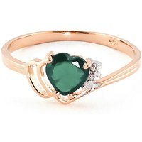 Image of Emerald & Diamond Devotion Ring in 18ct Rose Gold