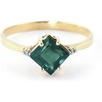 Emerald and Diamond Princess Ring in 18ct Gold