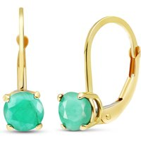 Image of Emerald Boston Drop Earrings 1.2 ctw in 9ct Gold