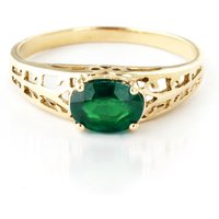 Emerald Catalan Filigree Ring 1.15 ct in 9ct Gold - Fashion Gifts