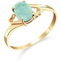 Emerald Classic Desire Ring 0.75 ct in 9ct Gold - Fashion Gifts