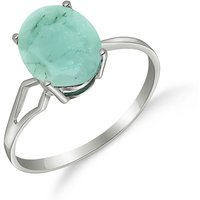 Emerald Claw Set Ring 2.9 ct in 9ct White Gold - Fashion Gifts