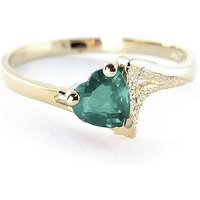 Emerald Devotion Ring 1 ct in 9ct Gold - Fashion Gifts