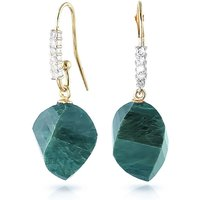 Emerald Drop Earrings 30.68 ctw in 9ct Gold