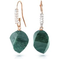 Emerald Drop Earrings 30.68 ctw in 9ct Rose Gold