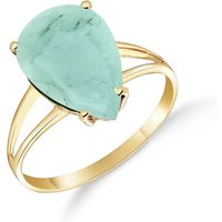 Emerald Pear Drop Ring 3.5 ct in 9ct Gold - Fashion Gifts