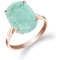Emerald Valiant Ring 6.5 ct in 9ct Rose Gold