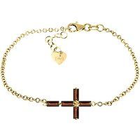 Garnet Adjustable Cross Bracelet 1.15 ctw in 9ct Gold