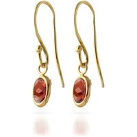 Garnet Allure Drop Earrings 1 Ctw In 9ct Gold