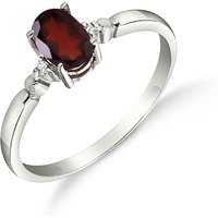 Garnet and Diamond Allure Ring in 9ct White Gold