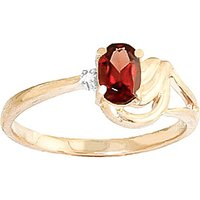 Garnet & Diamond Angel Ring in 18ct Gold - Angel Gifts
