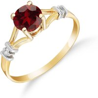 Garnet and Diamond Aspire Ring in 9ct Gold