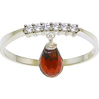 Garnet & Diamond Band in 9ct White Gold - Band Gifts