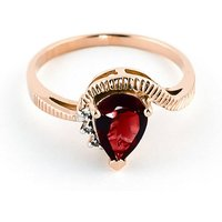 Garnet and Diamond Belle Ring in 9ct Rose Gold