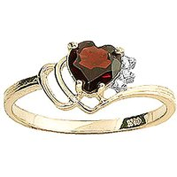 Click to view product details and reviews for Garnet Diamond Passion Ring in 18ct Gold.