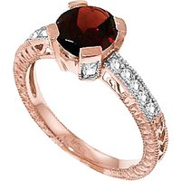 Garnet & Diamond Renaissance Ring in 9ct Rose Gold - Fantasy Gifts