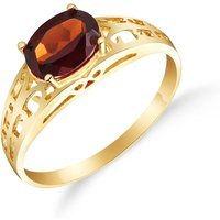 Garnet Catalan Filigree Ring 1.15 ct in 9ct Gold - Fashion Gifts
