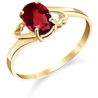 Garnet Classic Desire Ring 0.9 ct in 9ct Gold - Fashion Gifts