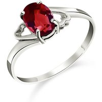 Click to view product details and reviews for Garnet Classic Desire Ring 09 Ct in Sterling Silver.