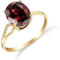Garnet Claw Set Ring 2.2 ct in 9ct Gold