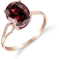 Garnet Claw Set Ring 2.2 ct in 9ct Rose Gold - Fashion Gifts