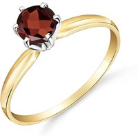 Garnet Crown Solitaire Ring 0.65 ct in 9ct Gold
