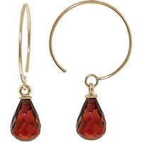 Garnet Eclipse Circle Wire Earrings 1.35 ctw in 9ct Gold - Jewellery Gifts