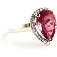 Garnet Halo Ring 4.06 ctw in 9ct Rose Gold