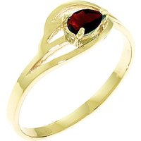 Garnet Pear Strand Ring 0.3 ct in 9ct Gold - Fashion Gifts
