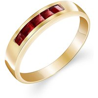 Garnet Princess Prestige Ring 0.6 ctw in 9ct Gold - Fashion Gifts