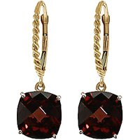 Garnet Rococo Twist Drop Earrings 9 ctw in 9ct Gold - Cushion Gifts