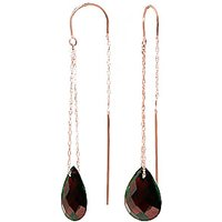 Image of Garnet Scintilla Earrings 6 ctw in 9ct Rose Gold