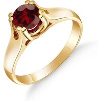 Garnet Solitaire Ring 1.1 ct in 9ct Gold - Fashion Gifts