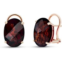 Garnet Stud Earrings 12 ctw in 9ct Rose Gold