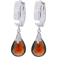Garnet Teardrop Earrings 6 ctw in 9ct White Gold