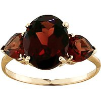 Garnet Three Stone Ring 4.1 ctw in 9ct Gold - Fashion Gifts