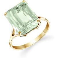 Green Amethyst Auroral Ring 6.5 ct in 9ct Gold - Fashion Gifts