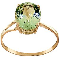 Green Amethyst Claw Set Ring 2.2 ct in 9ct Gold - Fashion Gifts