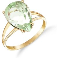 Green Amethyst Pear Drop Ring 5 ct in 9ct Gold - Fashion Gifts
