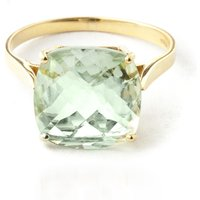 Green Amethyst Rococo Ring 3.6 ct in 9ct Gold - Fashion Gifts