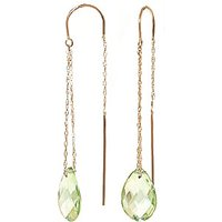 Green Amethyst Scintilla Earrings 6 ctw in 9ct Gold - Jewellery Gifts