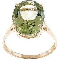 Green Amethyst Valiant Ring 7.55 ct in 9ct Gold - Ring Gifts
