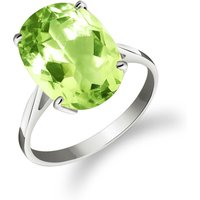 Green Amethyst Valiant Ring 7.55 ct in 18ct White Gold