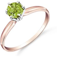 Green Diamond Crown Solitaire Ring 0.5 ct in 9ct Rose Gold
