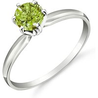 Green Diamond Crown Solitaire Ring 0.5 ct in 9ct White Gold