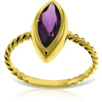 Marquise Cut Amethyst Ring 1.7 ct in 9ct Gold