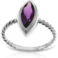 Marquise Cut Amethyst Ring 1.7 ct in 18ct White Gold