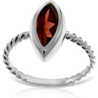 Image of Marquise Cut Garnet Ring 2 ct in 9ct White Gold
