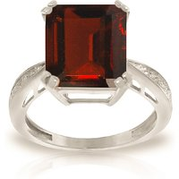 Octagon Cut Garnet Ring 7.52 ctw in 9ct White Gold
