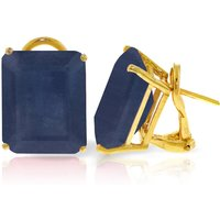Octagon Cut Sapphire Earrings 14 ctw in 9ct Gold